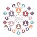 Концепция сети людей Стоковые Изображения RF