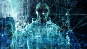 Концепция символа алгоритма машинного обучения новой технологии новая, преобразование случайных данных, числа одно бинарного кода бесплатная иллюстрация