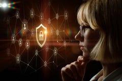 Концепция система защиты и зрения стоковые изображения