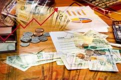 Концепция системы финансов Стоковое Изображение