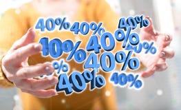 Концепция скидки 40% стоковые изображения