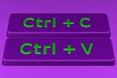 Концепция: Скопируйте кнопки затира перевод 3d Стоковые Фото