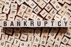 Концепция слова банкротства стоковые изображения rf