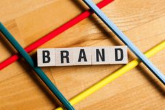 Концепция слова бренда стоковое фото