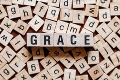 Концепция слова Грейс стоковое изображение