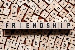 Концепция слова приятельства стоковая фотография rf