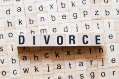 Концепция слова развода стоковые фотографии rf