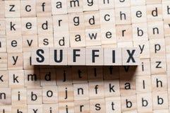 Концепция слова суффикса стоковые фото