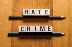 Концепция слов преступления на почве ненависти стоковая фотография rf