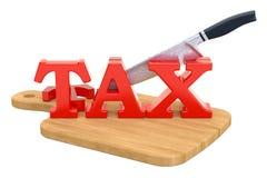 Концепция снижения налога перевод 3d Стоковые Фотографии RF