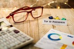 Концепция совершителей 10 лучших финансовая мотивационная Стоковые Фото