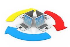 Концепция совместного пользования файлами Стоковая Фотография RF