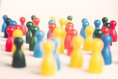Концепция современного мира с разнообразными figurines игры Стоковая Фотография