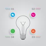 Концепция современного infographics с 4 вариантами Стоковые Изображения RF