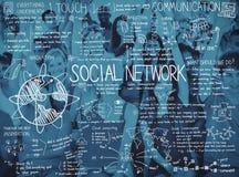 Концепция соединения общины связи вычисляя Стоковые Фото