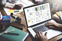 Концепция соединения сети интернета вебсайта онлайн социальная Стоковое Фото