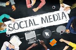 Концепция соединения технологии сети социальных средств массовой информации социальная Стоковая Фотография