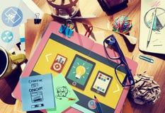 Концепция соединения технологии сети социальных средств массовой информации социальная Стоковое Изображение