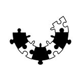 концепция сотрудничества зигзага головоломки стоковые изображения