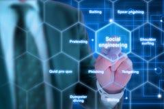 Концепция социальной инженерии хакера элиты Стоковые Фото