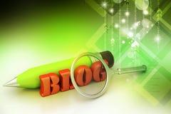Концепция сочинительства блога Стоковое Изображение RF