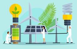 Концепция спасения планета, спасительная энергия иллюстрация штока