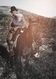 Концепция спокойного уединения лошадей Tsataan Монгол кочевническая Стоковые Изображения