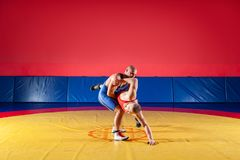 Концепция справедливый wrestling стоковое фото rf