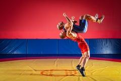 Концепция справедливый wrestling стоковые изображения