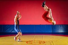 Концепция справедливый wrestling стоковые изображения rf