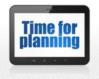 Концепция срока: Tablet компьютер ПК с временем для планировать на дисплее Стоковое фото RF