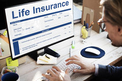 Концепция сроков использования полиса страхования жизни стоковая фотография