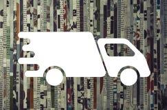 Концепция срочной поставки груза стоковые фото