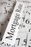 Концепция ставки процента по закладной Стоковое Изображение
