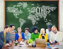 Концепция стандартов нравственностей принципов идеалов этик стоковая фотография