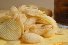Концепция старья питья соды холестерола картофельной стружки тучная Стоковое фото RF