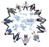 Концепция стиля идей маркетинга карты мира тенденций социальная Стоковое фото RF
