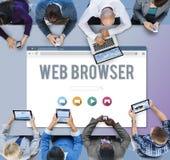 Концепция страницы родового браузера онлайн Стоковая Фотография