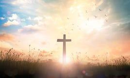 Концепция страстной пятницы и пасхи воскресенья стоковое изображение rf