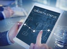 Концепция стратегии аналитика достижения роста дела стоковое изображение rf