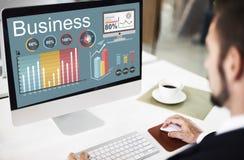 Концепция стратегии данным по коммерческой статистики аналитика Стоковые Изображения RF