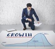 Концепция стратегии бизнес-плана диаграммы диаграммы роста Стоковое фото RF