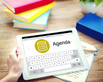 Концепция стратегии планирования назначения повестки дня задачи план-графика стоковые изображения rf