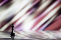 Концепция стратегии шахмат на яркой предпосылке Стоковая Фотография