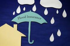 Концепция страхования от наводнений Стоковое Фото