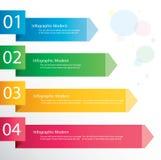 Концепция стрелки infographic Шаблон вектора с 4 вариантами Стоковая Фотография