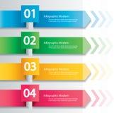 Концепция стрелки infographic Шаблон вектора с 4 вариантами Стоковые Фото