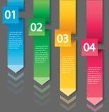 Концепция стрелки infographic Шаблон вектора с 4 вариантами Стоковое фото RF