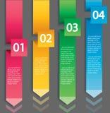 Концепция стрелки infographic Шаблон вектора с 4 вариантами Стоковая Фотография RF