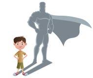 Концепция 2 супергероя мальчика Стоковое Изображение